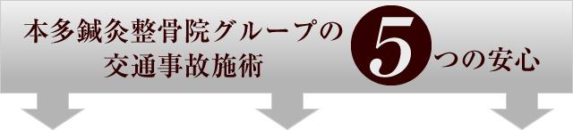 福岡市東区香椎・千早の交通事故・むち打ち治療専門院は交通事故施術5つの安心