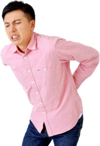 坐骨神経痛の男性